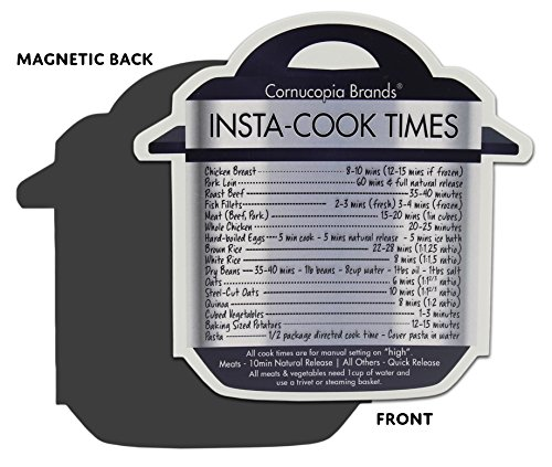 Instant Pot Cheat Sheet Magnets (3-Pack); Cooking Times for 16 Common Prep Functions by Cornucopia Brands (Image #4)