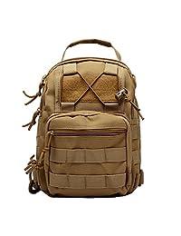 LTS®Shoulder bag chest bag camouflage field outdoor tactical assault backpack military fans shoulder bag hiking military