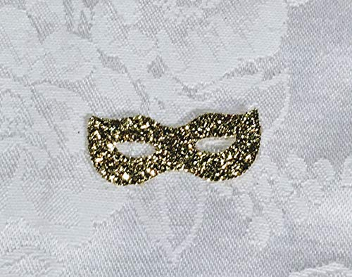 100 Glitter Mardi Gras Mask Shaped Confetti, MANY COLORS AVAILABLE