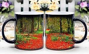 leequeen Magic taza–calor sensible cambio de color taza de café–rojo camino por arte de magia appear- mejor regalo creativo elección