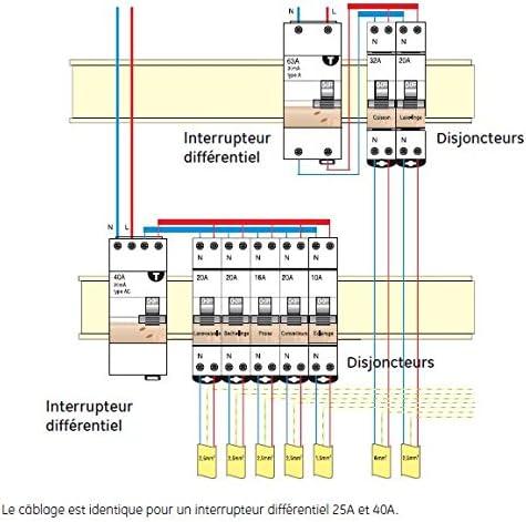 AEG AUN604449 Inter Diff/érentiel 63 A 30 mA Type AC