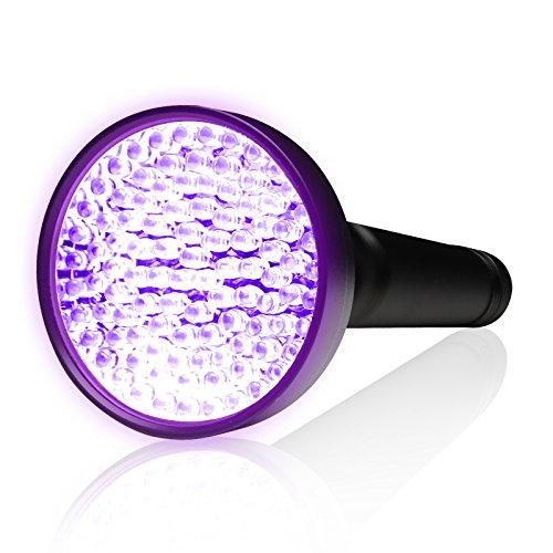 KOBRA UV Black Light Flashlight 100 LED #1 Best UV Light and Blacklight For Home & Hotel Inspection, Pet Urine & Stains - Ultra Intensity 18W 385-395nm LEDs Spot Counterfeit Money, Leaks, Scorpions!