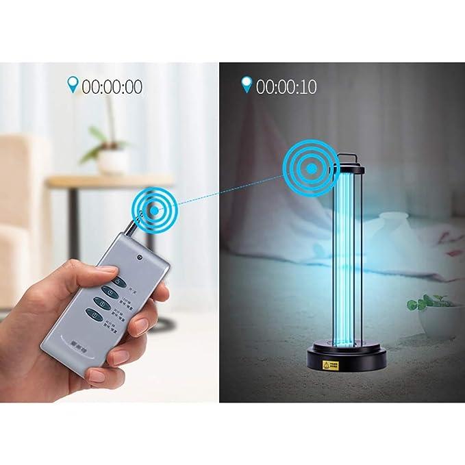 KQJJD Lámpara de Desinfección UV Lámpara de Limpieza de Aire, Home Kindergarten Lámpara de Esterilización Deshumidificación Temporizada de Control Remoto de ...