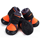 LA BIO Pet Hiking Shoes for Small/Medium/Large Dog, Winter Snow Rain Non-Slip Dogs