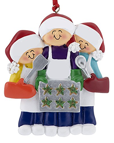 Baking Cookies with Grandma or Mom (2 Children) Christmas Ornament