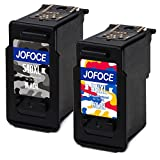 Jofoce Remanufactured Canon PG-540XL CL-541XL Ink Cartridge, Work with Canon PIXMA MG2100 MG2150 MG2200 MG2250 MG3100 MG3150 MG3200 MG3250 MG3255 MG3500 MG3550 MG3600 MG3650 (1 Black, 1 Tri-Color)