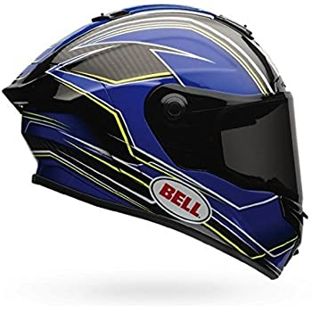 Bell Race Star Motorcycle Helmet Triton Blue/Yellow (Small)