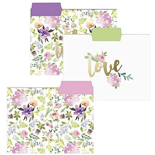 Flower Love File Folder Set