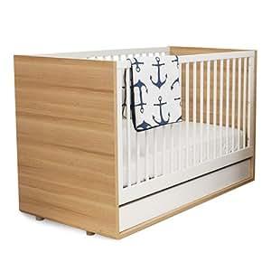 P'kolino Luce Convertible Crib - Evolve - Wood/white