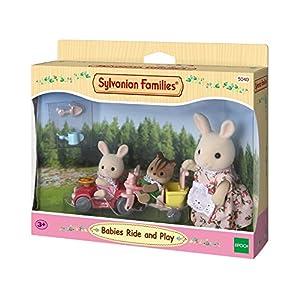 SYLVANIAN FAMILIES-Le Tricycle et Mini Voiture bébés poupées et Accessoires, 5040, Multicolore, Norme 3