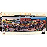MasterPieces Cityscapes Panoramic Jigsaw Puzzle, Sturgis, South Dakota, 75th Annual Motorcyle Rally, Photographs by James Blakeway, 1000 Pieces