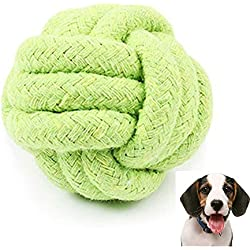 TnaIolr Pets Rope Ball Toy Biting Ball Colorful Squeak Toy Dog Toy Ball GN