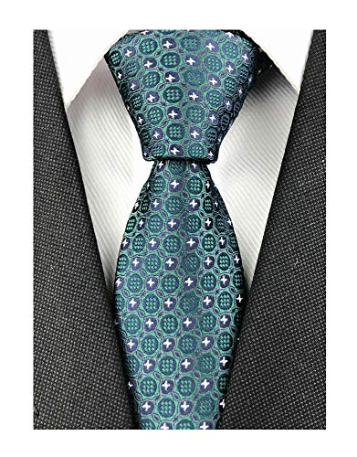 - GIFTS FOR MEN Unisex Women Green Dot Ties Unique Engagement Geometric Necktie Wedding Day