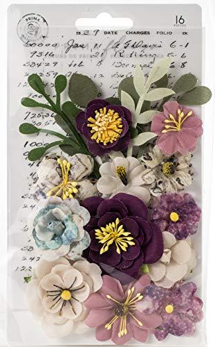 (Prima Marketing 636500 Moon Child Mulberry Paper Flowers 16/Pkg-Cosmic Love)