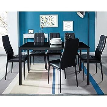 Gnrique Selva Ensemble Table A Manger 6 Personnes 140x80 Cm Chaises De Salle