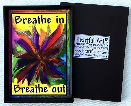 Breathe in breathe out 2x3 magnet - Heartful Art by Raphaella Vaisseau