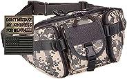 SunForMorning Tactical Fanny Pack Military Running Waist Bag Sling Hip Belt MOLLE Army Lumbar Gear Pocket (2 P
