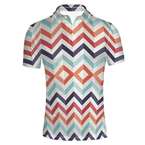 iPrint T-Shirts Watercolor Mix Figures Funky Structured Hand Shirts for Mens