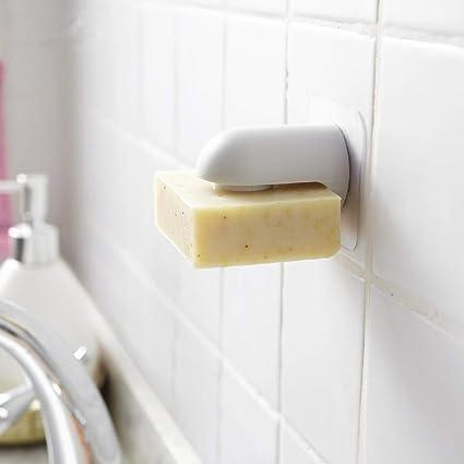 1 soporte magnético para jabón de pared, jabonera adhesiva ...