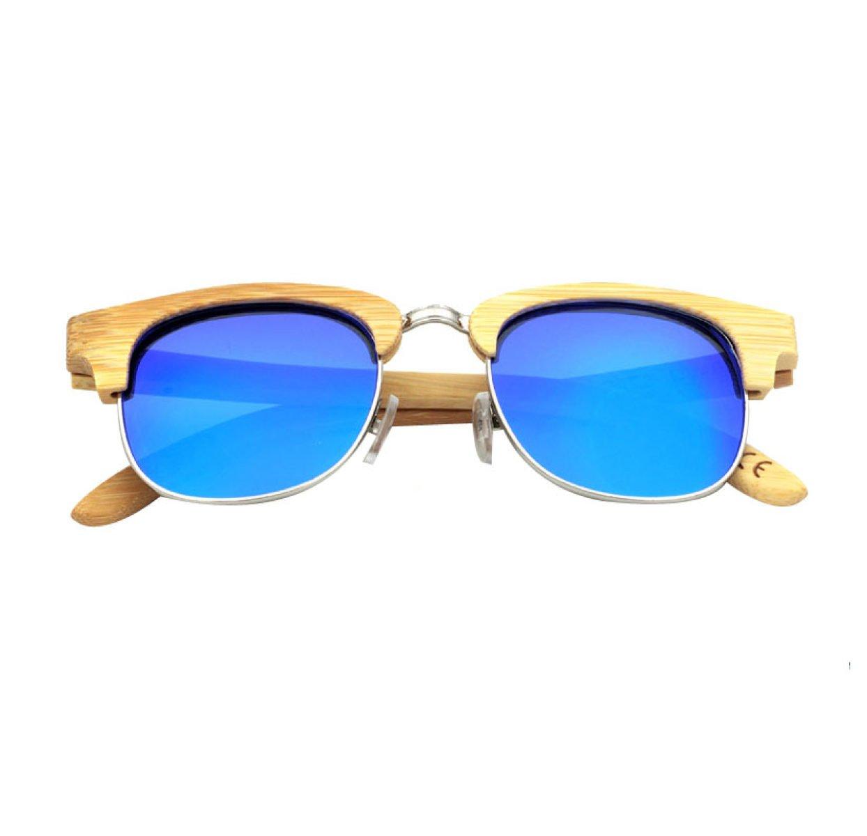 HAOYUXIANG Neue Europäische Und Amerikanische Männer Und Frauen Bambus Sonnenbrille 6 Farben,BambooBasketGreenFilm