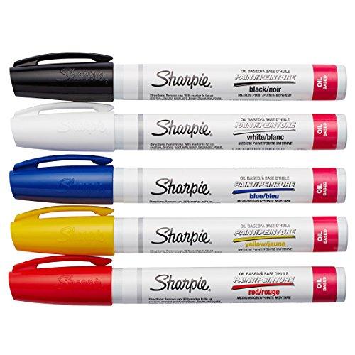 Sharpie Paint Oil-Based Paint Markers medium set of 5