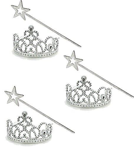 Princess Wand Tiara Set Sparkling