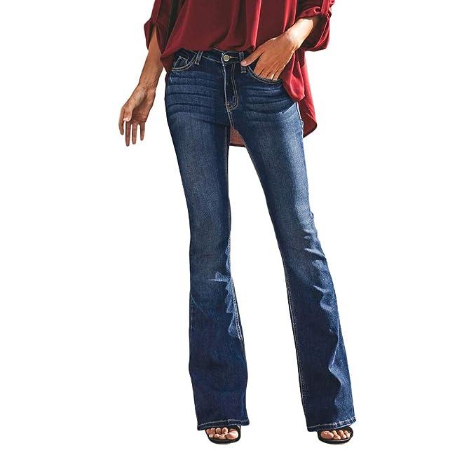 xier Mujeres De Cintura Baja Jeans Largos Pantalones de ...