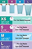BOS Amazing Odor Sealing Cat Litter Disposal Bags - Durable, Unscented (60 Bags) [Size: L, Color: light blue] NOT a litter box liner