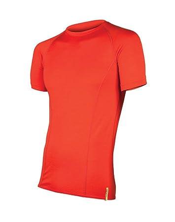 72661a737332 Sensor Merino Wool Herren T-shirt SS rot XXL  Amazon.de  Sport ...