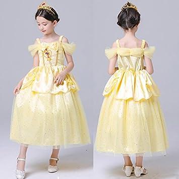 35cc946736463 m122 ベル ロングドレス 美女と野獣 キッズ 子供用ドレス Belle 女の子 子供プリンセスドレス