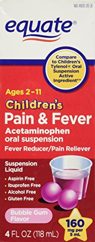 Equate Children's Acetaminophen 4oz Bubble Gum Flavor Compare to Children's Tylenol Oral ()