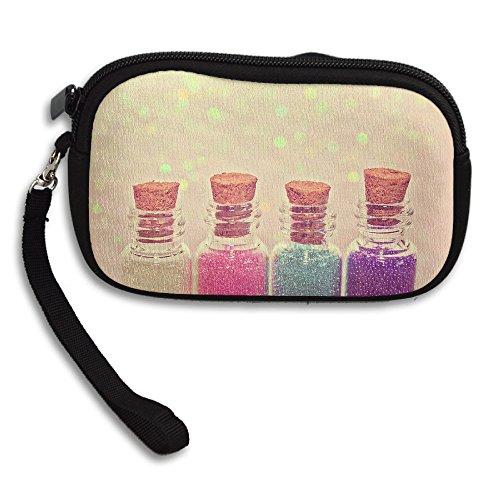Free Spinner Wish Bottle Women's Casual Coin Purse Storage Package Wallet Zipper Change Holder Bag Key Wristlet Wallet Handbag Wallet Zipper Mini Wallet