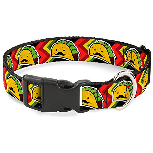Buckle-Down Plastic Clip Collar - Taco Man - 1