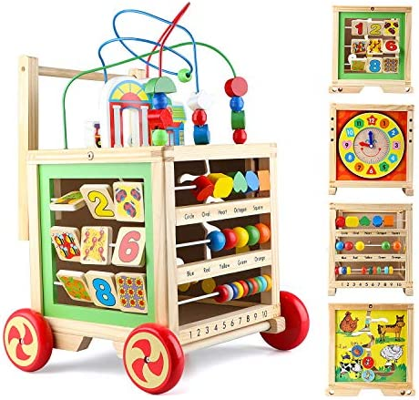 Gemileo Wooden Activity Cube Center Toys with...