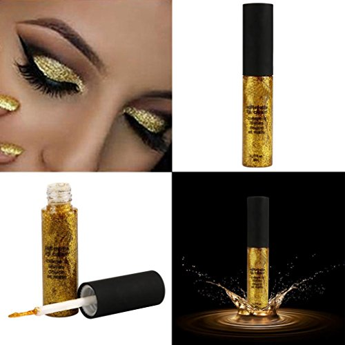 Baomabao Eyeshadow Waterproof Smoky Eyes Glitter Liquid Eyeliner Pencil (Gold)