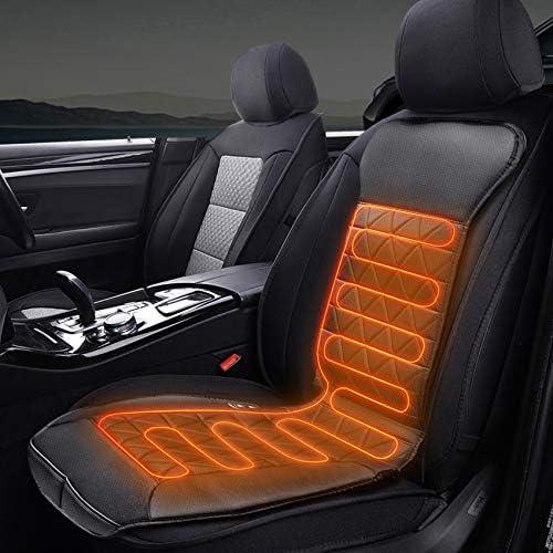 Migimi Auto Sitzheizung Auflage Beheizbare Kissen Heizkissen Mit Zeit Temperatur Kontrolleur Universal Beheizte Sitzauflage 12v 24v Für Auto Auto