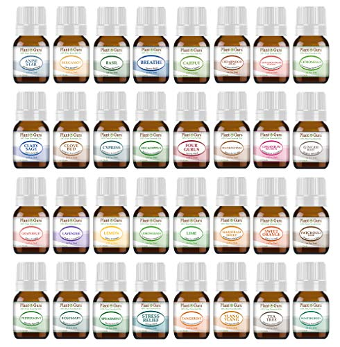 - Ultimate Essential Oil Set 32-5 ml 100% Pure Therapeutic Grade for Aromatherapy Diffuser, Skin, Body, Hair. Perfect for DYI Crafts, Soap, Lotion, Cream, Lip Balm and Candle Making.
