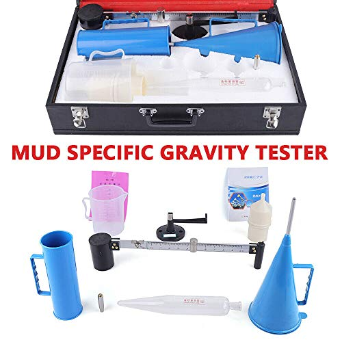 KPfaster Slurry Test Kit Model Mud Hydrometer Mud Viscometer Marsh Funnel and Viscosity Cup