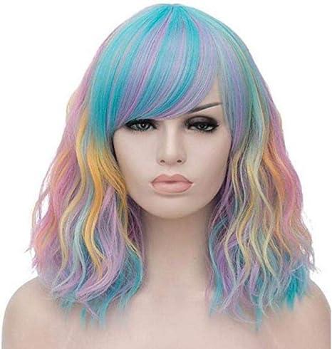 Dabaobao peluca de pelo corto con forma de pera de color arco ...