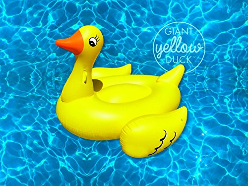 Giant Yellow Duck Ride On Pool Float 80in Of Summer Fun Usa Seller 11street Malaysia Pool