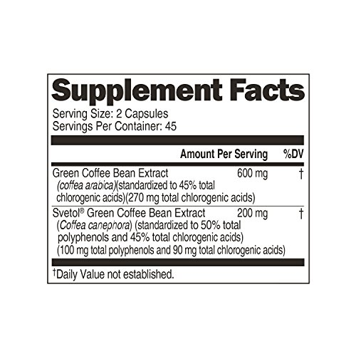 Genesis Today, Green Coffee Bean with Svetol 800mg, 90 Count by Genesis Today (Image #2)