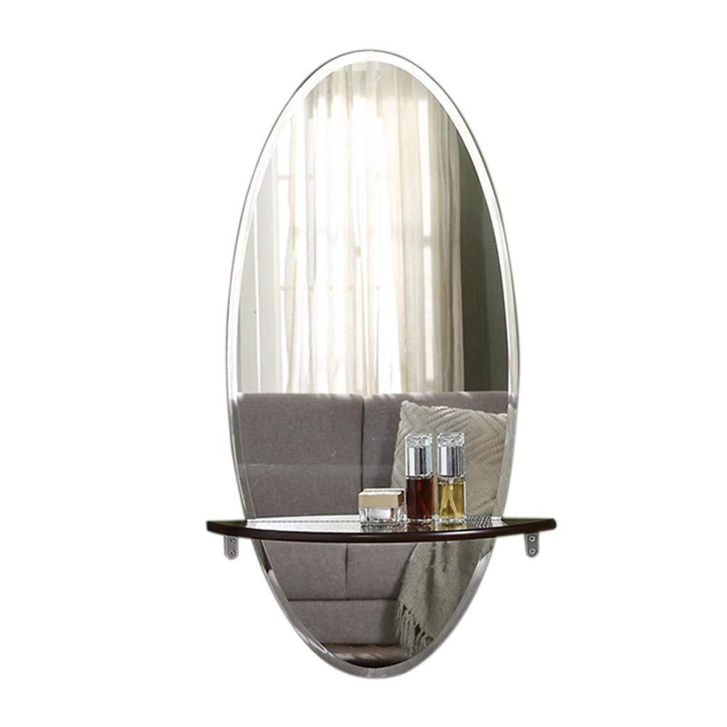 PIGE Espejo con Estante, Espejo de Cristal Creativo Europeo - Espejo de Pared del Maquillaje del Cuarto de baño - Espejo de Pared de la decoración de la Sala de Estar