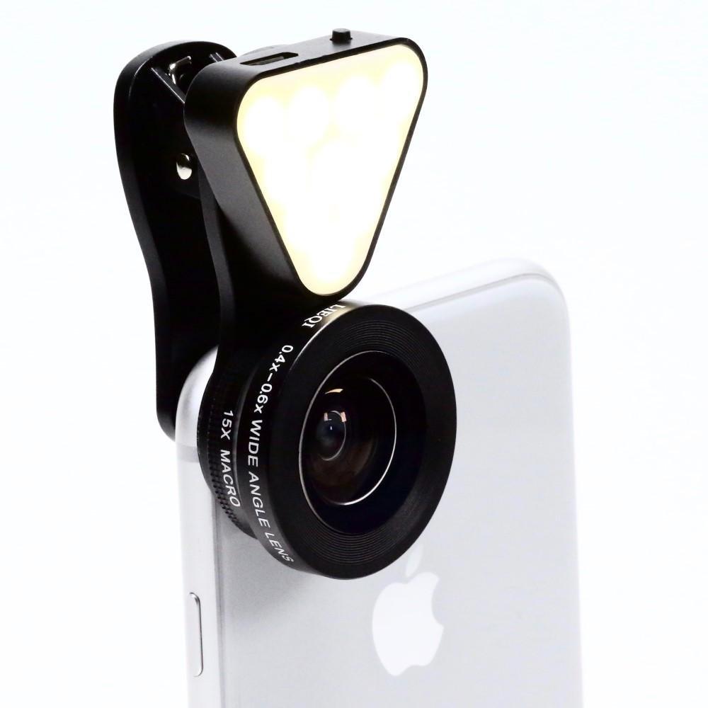 C Larboard LED Clip-On Mobile Lens (LED Clip-On Mobile Lens)