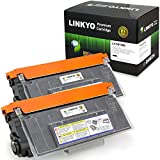 LINKYO Compatible 2 Pack Brother TN750 Black Toner Cartridge for Brother DCP8110DN, HL5470DW, HL6180DW, MFC8510DN