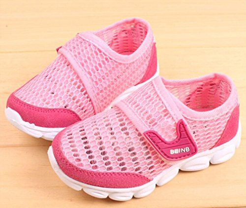 Hunpta Baby Sneaker Kinder Kleinkind Bequeme Breathable Mesh Casual Sport Schuhe Rot