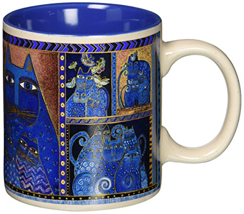 Laurel Burch Artistic Collection Mug, Indigo Cats Portrait, Multicolor