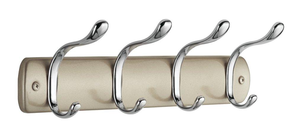 pa/ñuelos Colgador de Ropa con 8 Ganchos Color champa/ña mDesign Perchero de Pared de Acero Muy /útil para organizar armarios y guardarropas chales Cuelga Ropa para recibidor: Abrigos Sacos