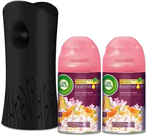 Air Wick Life Scents Freshmatic Automatic Spray Kit (Gadget + 2 Refills), Summer Delights, Air Freshener