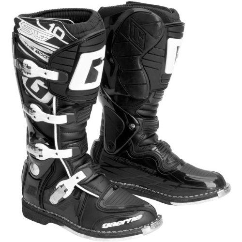 Gaerne Sg10 Motocross Boots - Gaerne SG10 Mens Black Motocross Boots - 10
