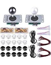 Quimat 2 Joystick Arcade Zéro Délai Kits DIY de Jeu Encodeur USB Bouton Arcade Pour Raspberry Pi 3 2 1 model B PC Game Handle Gamepad Compatible,Mame Jamma et Jeux de Combat